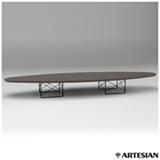 Mesa de Centro Surf Table com Estrutura Preto e Tampo Ébano - Charles e Ray Eames
