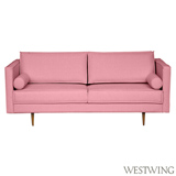 Sófa Audrey com 02 Lugares Rosa Flamingo