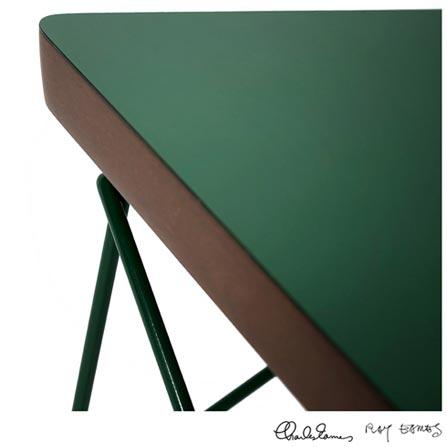 Mesa de Apoio Wire Base em Aço Inox - Charles e Ray Eames, Verde, Aço Inox e MDF, Artesian, 03 meses