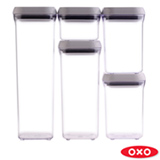 Conjunto de 5 Potes em Acrílico - Oxo