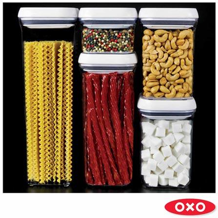 Conjunto de 5 Potes em Acrílico - Oxo, Não se aplica, Spicy, Acrílico, 5