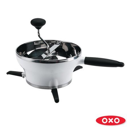 Passador de Vegetais em Aço Inox com Capacidade de 2 litros Branco - Oxo, Branco, Spicy, Inox, 01 Peça