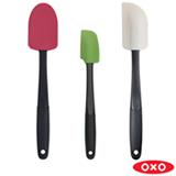 Conjunto de Espátulas com 3 Peças em Silicone Coloridas - Oxo