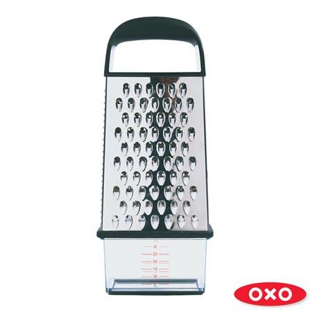 Ralador 4 Lados com Dispenser em Aço Inox - Oxo, Inox, Spicy, Inox, 01 Peça
