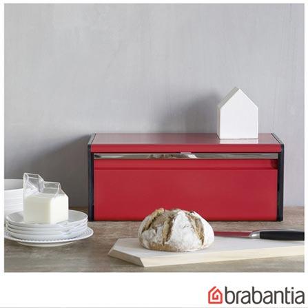 Porta Pão em Aço Inox Vermelho - Barbantia, Vermelho, Spicy, Inox, 01 Peça