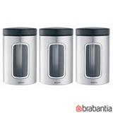 Conjunto de Potes em Aço Escovado com 3 Peças - Brabantia
