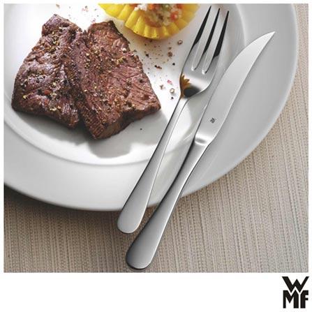 Conjunto de 12 Talheres para Carne Servier Bistro em Aço Inox - WMF, Inox, Spicy, Inox, Até 30 peças, 12 Peças