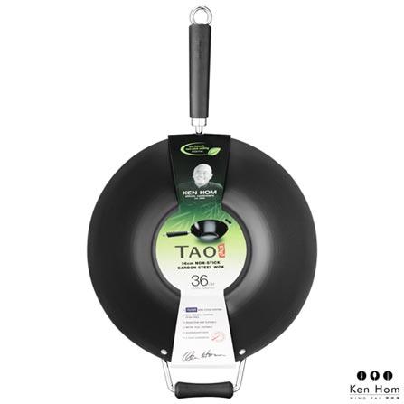 Panela Wok em Alumínio com 36 cm Profissional - Ken Hom, Não se aplica, Spicy, Alumínio, 01 Peça