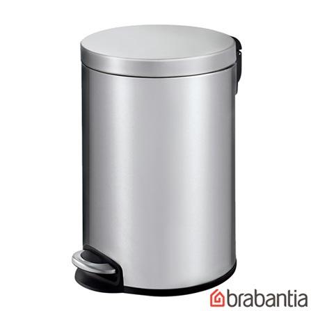 Lixeira com Pedal em Aço Inox com 20 Litros de Capacidade - Brabantia, Inox, Spicy, Inox, 01 Peça