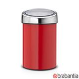 Lixeira Touch Bin em Aço Inox Vermelha com 3 Litros de Capacidade - Barbantia