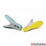 Conjunto de Prendedores para Roupas Smart com 8 unidades Verde e Amarelo - Brabantia