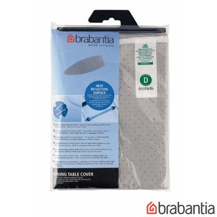 Capa para Tábua de Passar D em Algodão Metalizado 135x45cm - Brabantia, Não se aplica, Spicy, Algodão metalizado