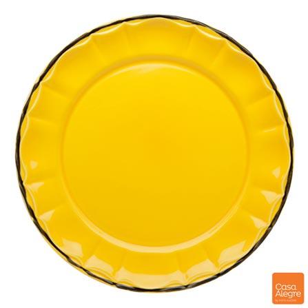 Sousplat em Cerâmica Mixme Amarelo - Casa Alegre, Amarelo, Spicy, Cerâmica, 01 Peça