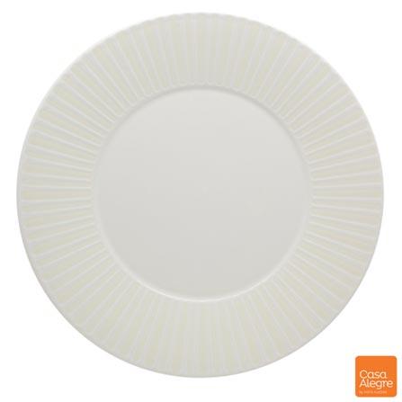 Sousplat em Cerâmica Cottage Branco - Casa Alegre, Branco, Spicy, Cerâmica, 01 Peça
