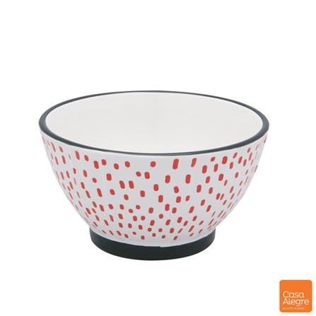 Tigela em Cerâmica com 693 ml Vermelha - Casa Alegre, Vermelho, Spicy, Cerâmica, 01 Peça