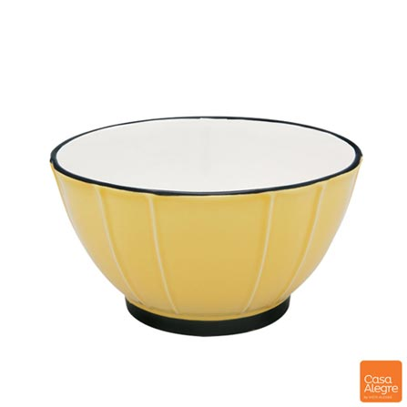 Saladeira em Cerâmica Mixme Amarela - Casa Alegre, Amarelo, Spicy, Cerâmica, 01 Peça