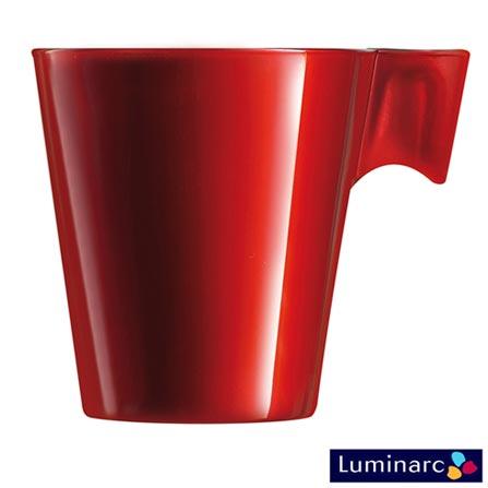 Xícara para Café em Vidro de 80 ml - Luminarc, Vermelho, Spicy, Vidro, 1
