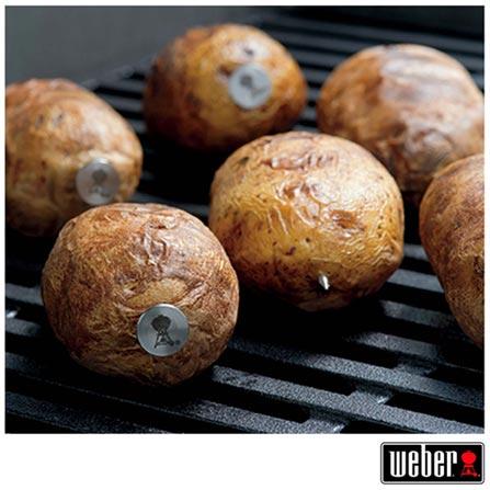 Conjunto de 6 Espetos para Batata e 1 Extrator em Aço Inox - Weber, Não se aplica, Spicy, Aço Inox