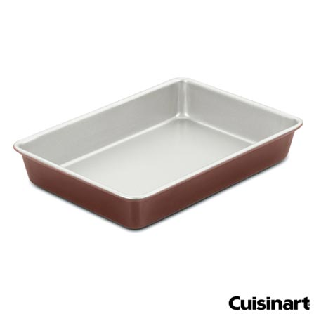 Forma Retangular Classic 31x22 cm em Alumínio - Cuisinart, Bronze, Spicy, Alumínio, 01 Peça