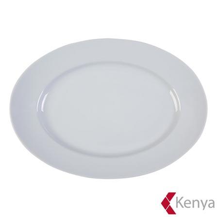 Travessa Oval em Porcelana com 30 cm - Kenya, Branco, Spicy, Porcelana, 01 Peça