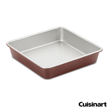 Forma Quadrada de 22 cm em Alumínio Classic - Cuisinart, Bronze, Spicy, Alumínio, 01 Peça