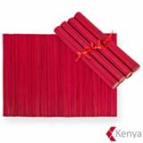 Jogo Americano em Bambu com 4 peças Vermelho - Kenya