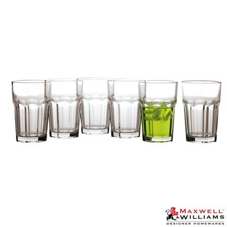 Conjunto Copos em Vidro 400ml com 6 Peças - Maxwell & Williams, Não se aplica, Spicy, Vidro, 06 Peças