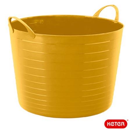 Balde Flexi Tub com 17 Litros de Capacidade - Keter, Amarelo, Spicy