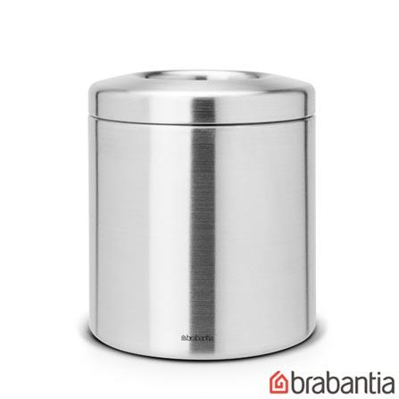 Lixeira de Mesa em Aço Inox com 1 litro de Capacidade - Brabantia, Inox, Spicy, Aço Inox