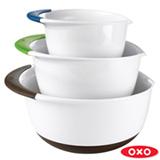 Conjunto de Bowls em Plástico com 03 Peças Branco - Oxo