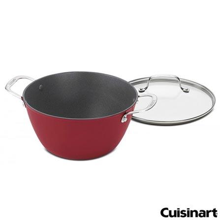Caçarola em Ferro Antiaderente com 26cm de Diâmetro Vermelho - Cuisinart, Vermelho, Spicy, Ferro, 01 Peça