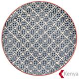Prato Raso em Cerâmica Florals Azul – Kenya