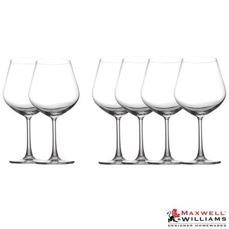 Conjunto de Taças para Vinho Burgundy em Vidro com 710 ml 06 Peças Cosmopolitan - Maxwell & Williams, Não se aplica, Spicy, Vidro, 06 Peças