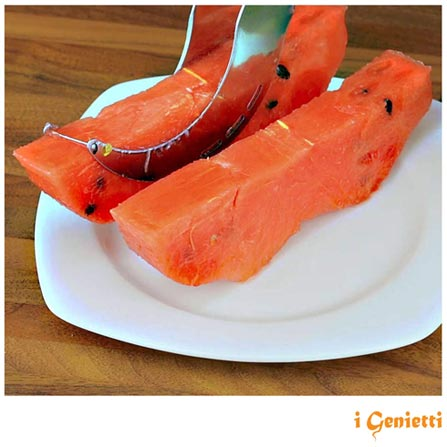 Fatiador de Melancia em Aço Inox com 22 cm – i Genietti, Inox, Spicy, Aço Inoxidável, 01 Peça