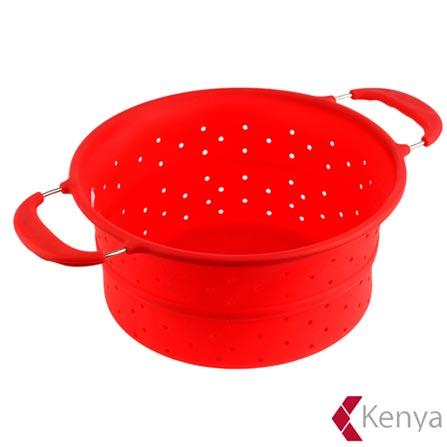 Escorredor de Alimentos em Silicone Vermelho – Kenya, Vermelho, Spicy, Silicone, 01 Peça