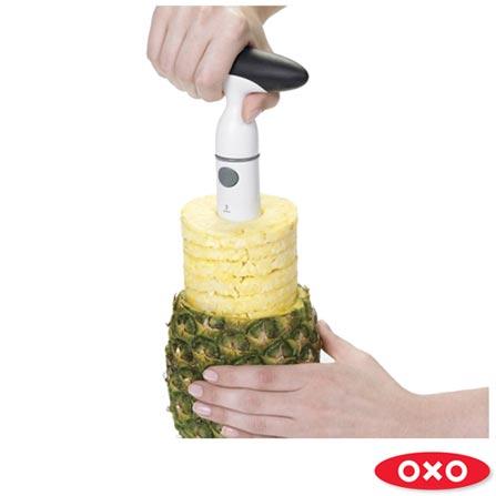 Fatiador de Abacaxi em Plástico Branco - Oxo, Branco, Spicy, Plástico, 01 Peça