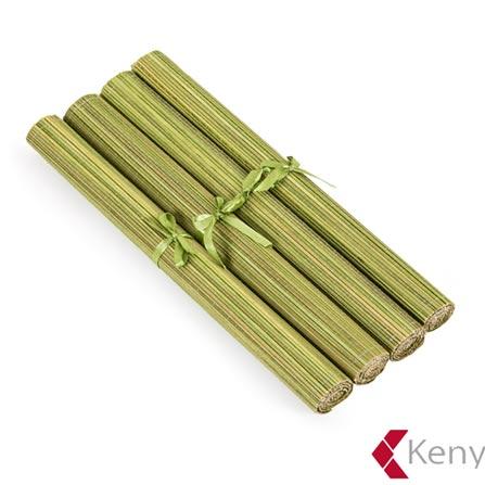 Jogo Americano em Bambu com 04 Peças Pistache – Kenya, Verde, Spicy, Bambu, 04 Peças