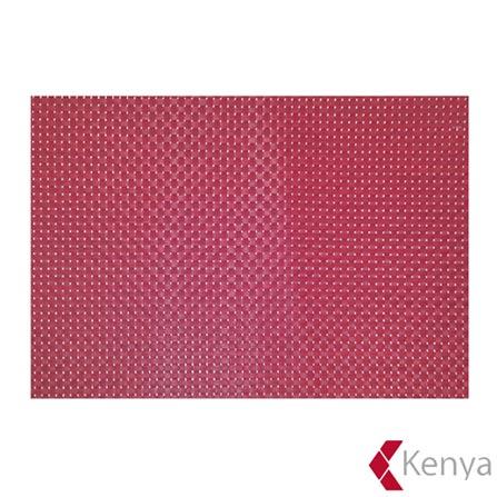 Jogo Americano em PVC com 01 Peça Armor Vermelho – Kenya, Vermelho, Spicy, PVC, 01 Peça