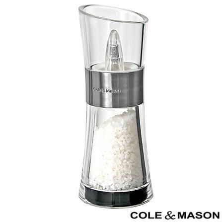 Moedor para sal em Acrílico Inverta Black - Cole & Mason, Não se aplica, Spicy, Acrílico