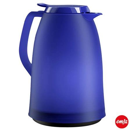 Garrafa Térmica com Capacidade de 01 Litro Quick Tip Mambo Azul - Emsa, Azul, Spicy, Plástico, 01 Peça