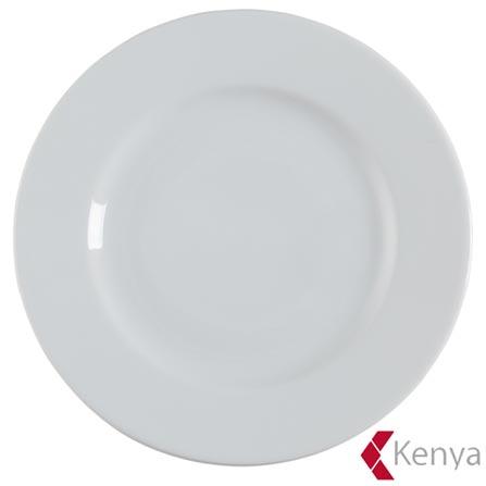 Prato para Sobremesa Roma com 21 cm de porcelana Branco - Kenya, Branco, Spicy, 01 Peça, Porcelana, 1