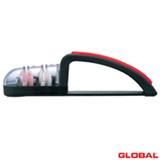 Amolador de Faca com 2 estágios de Plástico Preto - Global
