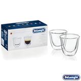 Conjunto de Copos para Café Espresso em Vidro de 60 ml com 02 Peças - DeLonghi