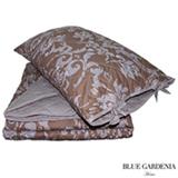Colcha Boutie Casal com Porta Travesseiros Cairo Capuccino - Blue Gardênia
