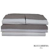 Jogo de Cama Casal com 4 Peças Cairo Stripes Capuccino - Blue Gardênia