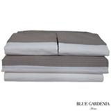 Jogo de Cama Queen com 4 Peças Cairo Stripes Capuccino - Blue Gardênia