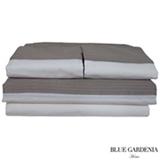 Jogo de Cama King com 4 Peças Cairo Stripes Capuccino - Blue Gardênia