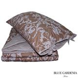 Colcha Boutie Single com Porta Travesseiros Cairo Capuccino - Blue Gardênia