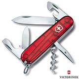 Canivete Spartan com 12 Funções em ABS e Celidor Vermelho Translúcido - Victorinox