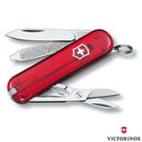 Canivete Classic com 7 Funções em ABS e Celidor Vermelho Translúcido - Victorinox